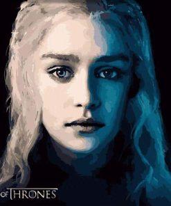 Daenerys Targaryen - DIY Paint By Numbers - Numeral Paint