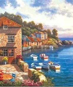 Mediterranean Sea - DIY Paint By Numbers - Numeral Paint