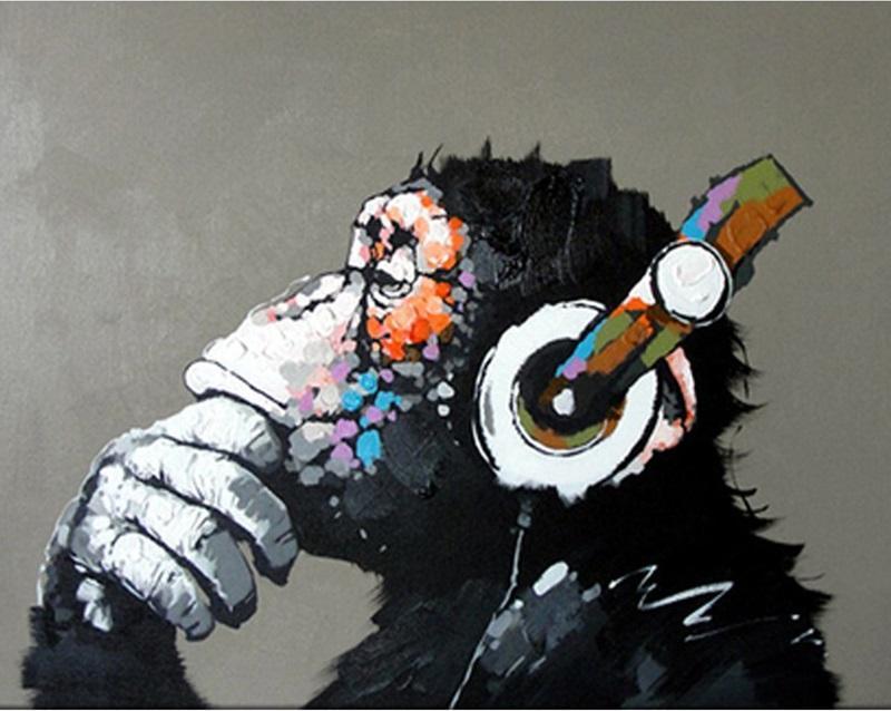 Orangutan animals wall art canvas acrylic - DIY Paint By Numbers - Numeral Paint