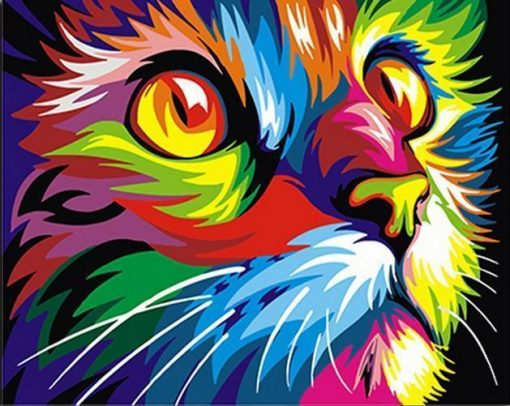 Abstract Cat - DIY Paint By Numbers - Numeral Paint