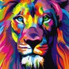 Abstract Lion - DIY Paint By Numbers - Numeral Paint