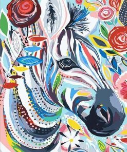 Abstract Zebra - DIY Paint By Numbers - Numeral Paint