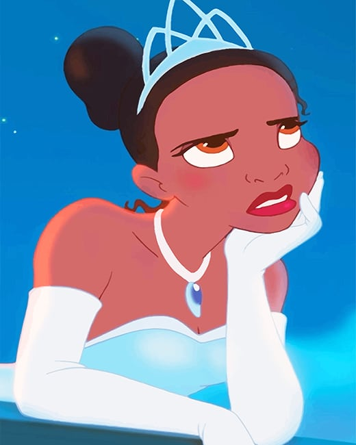 Tiana Disney Princess New Paint By Numbers Canvas