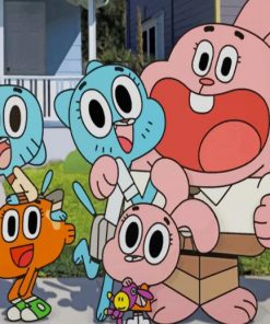 gumball friends paint by numbers