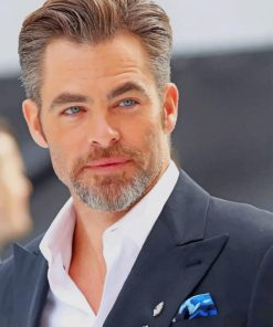 Chris Pine Actor paint by numbers