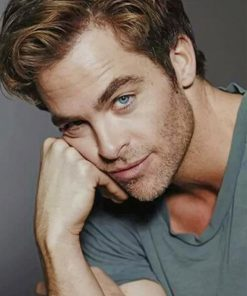 Chris Pine Portrait paint by numbers