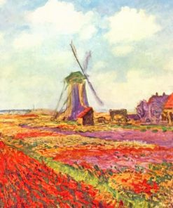 Claude Monet Tulip Fields paint by numbers