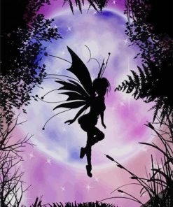 Fairy Silhouette paint by numbers