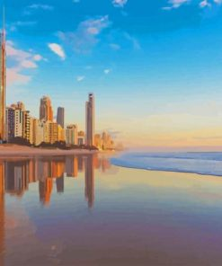 Gold Coast Australia paint by number