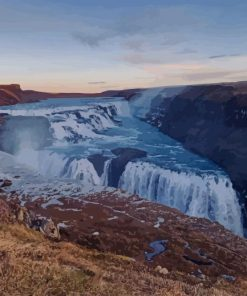 Gullfoss Falls paint by numbers