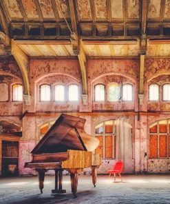 Piano In An Old Hall paint by numbers
