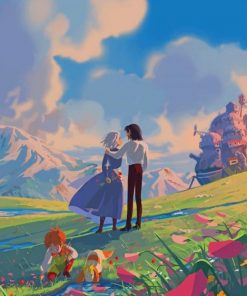 Howl's Moving Castle paint by numbers