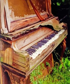 Old Piano paint by numbers