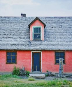 Small Pink Cottage paint by number