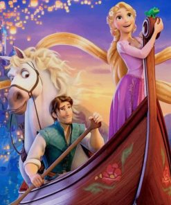 Tangled Disney paint by numbers