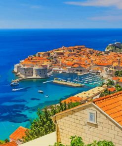 Walls Of Dubrovnik Croatia paint by number