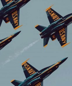 U.S Navy Air Show paint by numbers