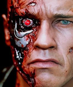 Arnold Terminator Red Eye paint By numbers