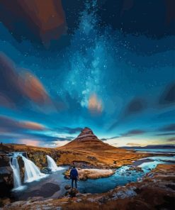 Aurora Iceland paint by numbers