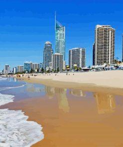 Surfers Paradise Australia Beach paint by number