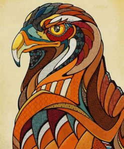 Bald Eagle Pop Art paint by numbers
