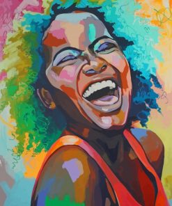 Black African Woman paint by numbers