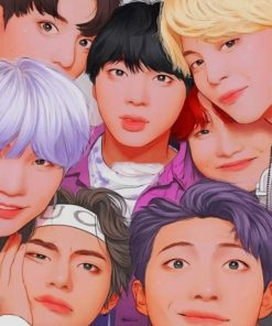 BTS Kpop paint By Numbers