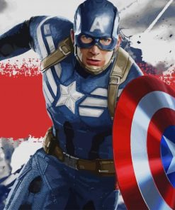 Captain America Marvel paint by number