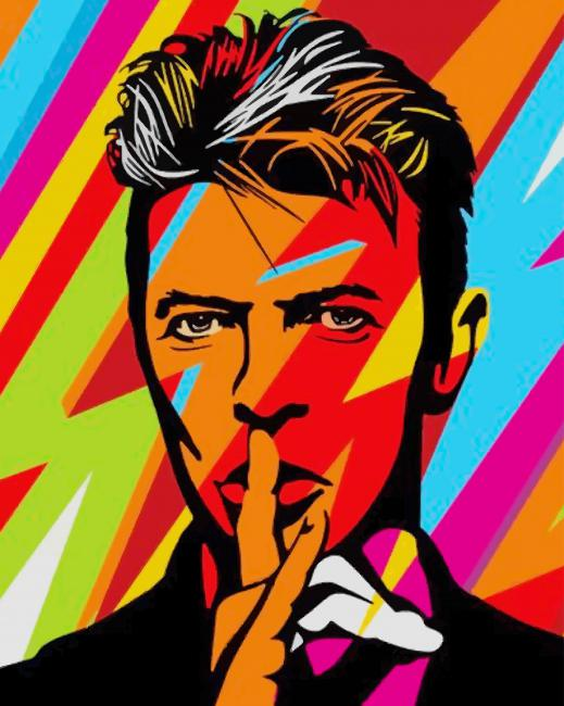 David Bowie Abstract Art paint by numbers