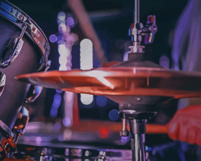 Drum Kits Instrument paint by numbers
