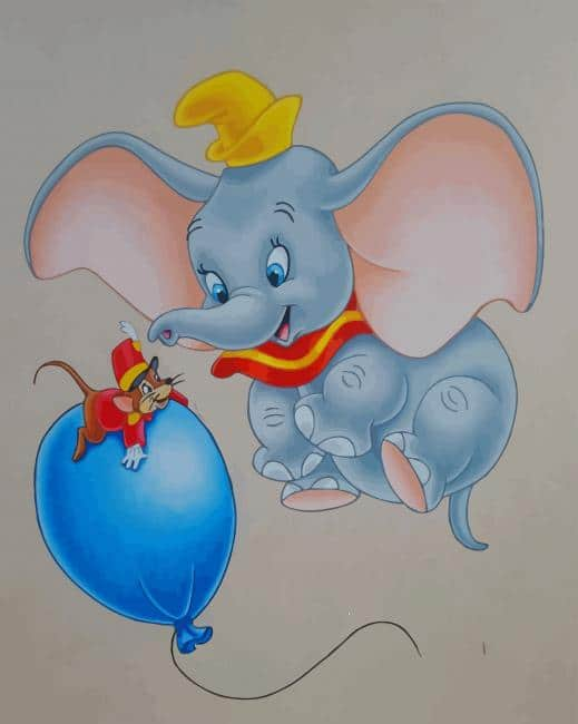 Dumbo Elephant paint by number