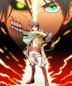 Eren From Attack On Titan paint by numbers