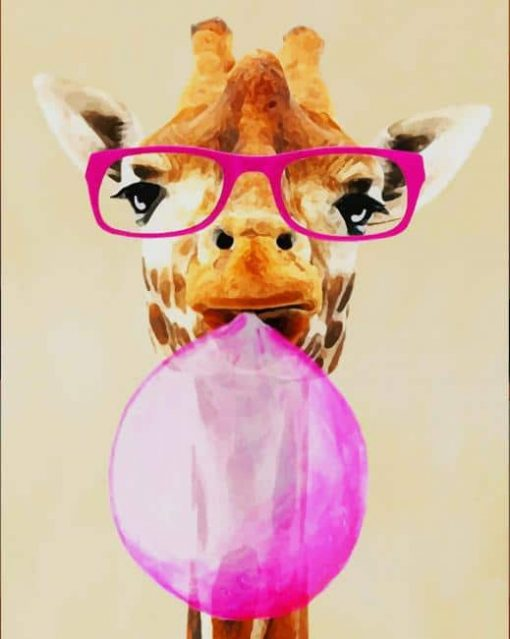 Cute Giraffe Art Animal paint by numbers