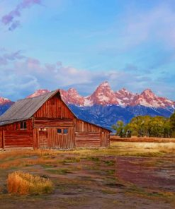Grand Teton National Park Wyoming paint by numbers