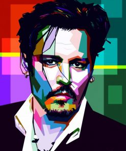 Johnny Depp Pop Art paint by numbers