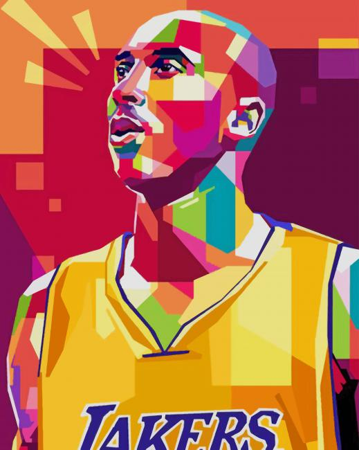 kobe Bryant Tribute Pop Art paint by numbers