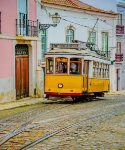 Lisbon Portugal Tram paint by numbers