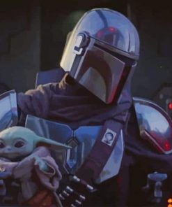 Mandalorian and Baby Yoda paint by numbers