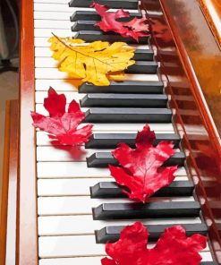 Piano And Autumn Leaves paint by numbers