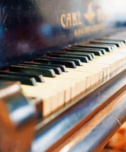 Vintage Piano Focus paint by numbers