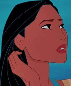 Pocahontas Princess paint by numbers