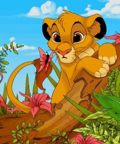 Simba Lion king paint by numbers