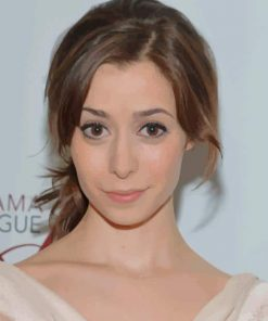 The American Actress Cristin Milioti paint by numbers