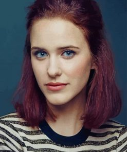 The American Actress Rachel Brosnahan paint by numbers