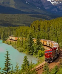 Train In The Landscape paint by numbers