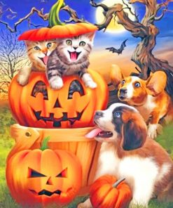 Animals Halloween paint by numbers