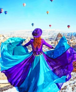 Girl In Cappadocia paint by numbers