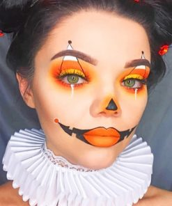 Halloween Face Art paint by numbers