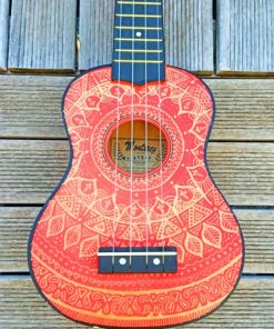 Mandala Guitar paint by numbers
