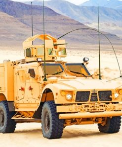 Military Vehicle painting by numbers